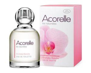 Francouzská značka Acorelle používá, jak uvádí na svých webových stránkách, nedenaturovaný alkohol z řepy a voňavé složky z Grasse, ať už přírodního či syntetického původu. Orchidée Blanche je z 88% přírodní a neobsahuje žádná umělá barviva. Foto: Acorelle